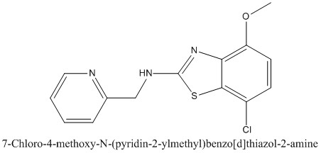 CAS 1105194-24-8 7-Chloro-4-methoxy-N-(pyridin-2-ylmethyl)benzo[d]thiazol-2-amine