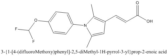 CAS 924876-60-8 3-{1-[4-(difluoroMethoxy)phenyl]-2,5-diMethyl-1H-pyrrol-3-yl}prop-2-enoic acid