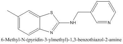 CAS 1105192-10-6 6-Methyl-N-(pyridin-3-ylmethyl)-1,3-benzothiazol-2-amine