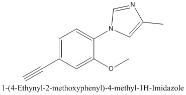 CAS 1093980-57-4 1-(4-Ethynyl-2-methoxyphenyl)-4-methyl-1H-Imidazole