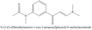 CAS 96605-65-1 N-[3-[3-(Dimethylamino)-1-oxo-2-propenyl]phenyl]-N-methylacetamide
