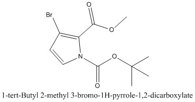 CAS 1097834-88-2 1-tert-Butyl 2-methyl 3-bromo-1H-pyrrole-1,2-dicarboxylate