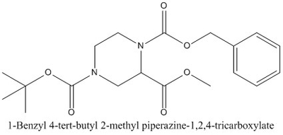 CAS 126937-42-6 1-Benzyl 4-tert-butyl 2-methyl piperazine-1,2,4-tricarboxylate